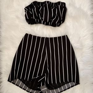LF Striped Love Two Piece Set Shorts and Bandeau